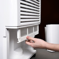 Washable air filter with Clean-Filter Alert on Ivation IVADH70PW dehumidifier