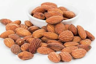 Almond nut, almond fruit