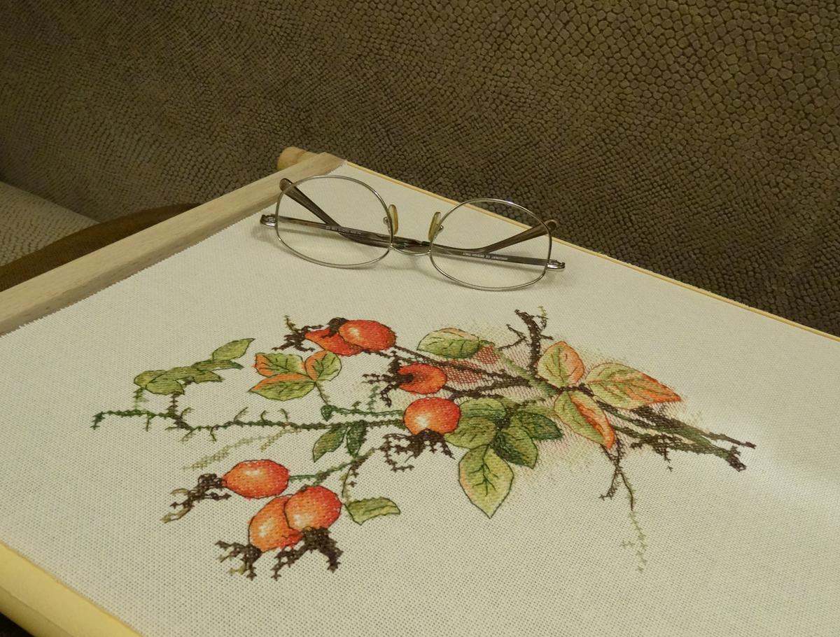 алиса вышивка схема снегирь на елочной ветке