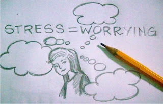 stress is worrying doodle