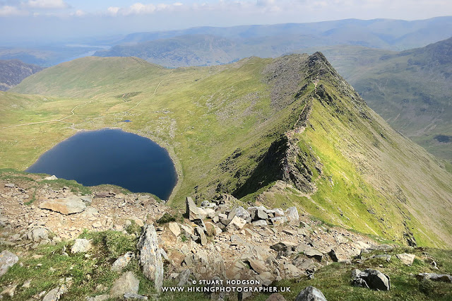 Striding Edge, Helvellyn, walk, hike, route, Patterdale, Glenridding, Ullswater, Lake District