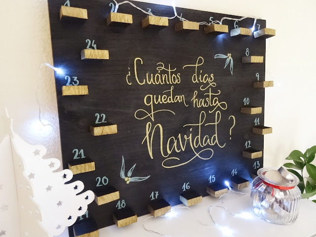 DIY- Calendario de Adviento Velas