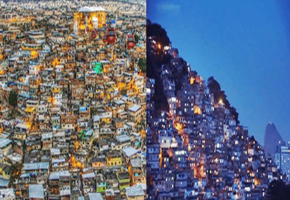 Praia-favelas