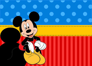 Mickey in Red and Blue: Free Printable Party Kit.