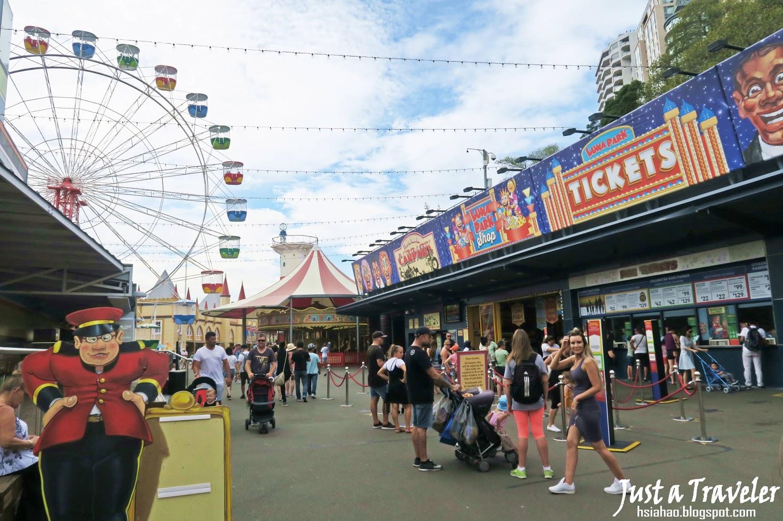 雪梨-景點-推薦-雪梨月神公園-Luna-Park-旅遊-自由行-澳洲-Sydney-Tourist-Attraction-Travel-Australia
