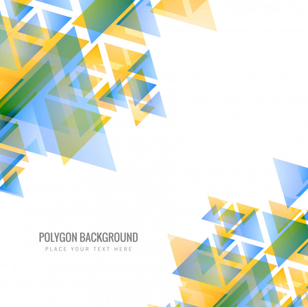 Abstract colorful polygon background illustration Free Vector
