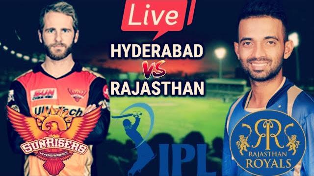 ipl 2019 Sunrisers Hyderabad Vs Rajasthan Royals  Live Streaming