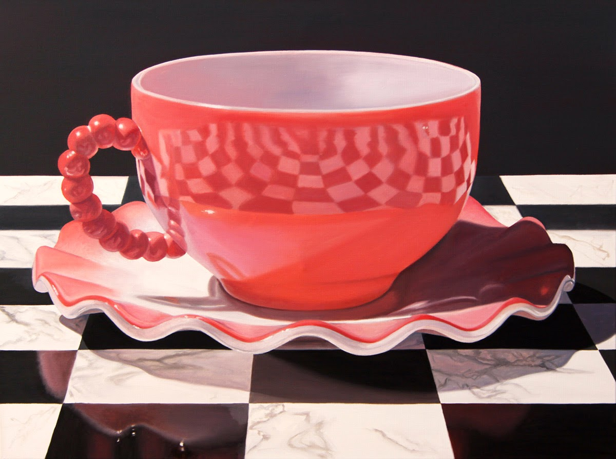 05-Pretty-In-Pink-Daryl-Gortner-Reflections-in-Art-Photo-Realistic-Paintings-www-designstack-co