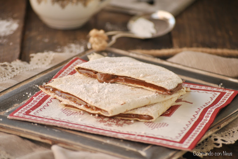 Tortillas de trigo con Nutella
