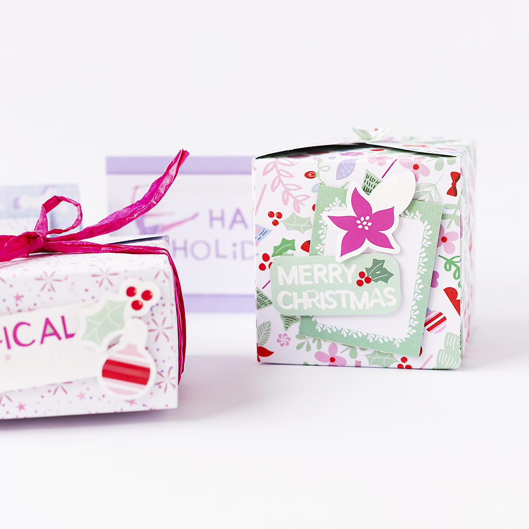 Christmas Gift Wrapping with Magical Holidays @SandraDietrich for @DCWV