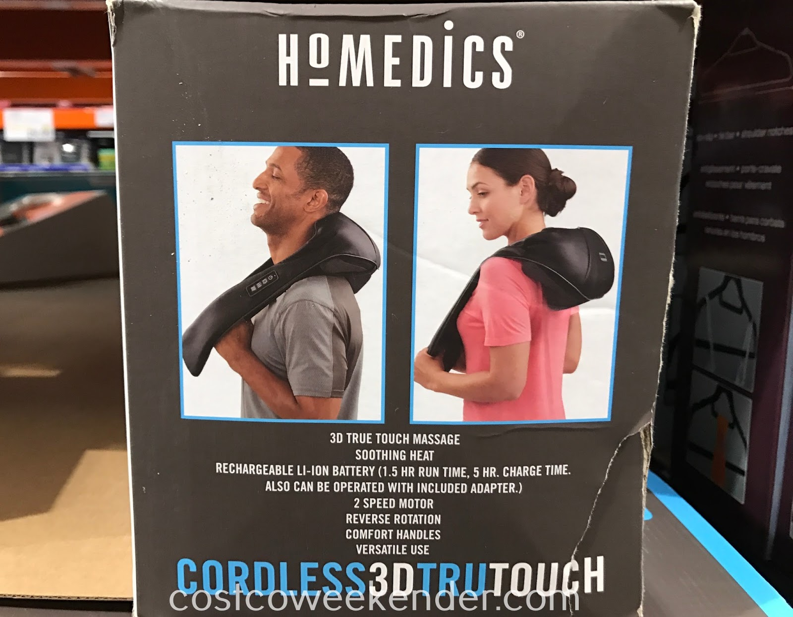 Costco 1163264 - HoMedics Cordless 3D Tru Touch Neck & Shoulder Massager: great for tense muscles