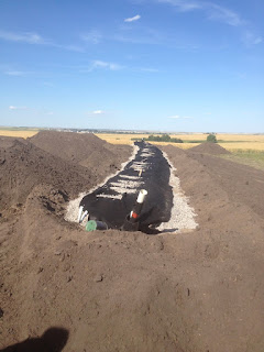 This raised treatment mound is an excellent septic treatment system for problem areas