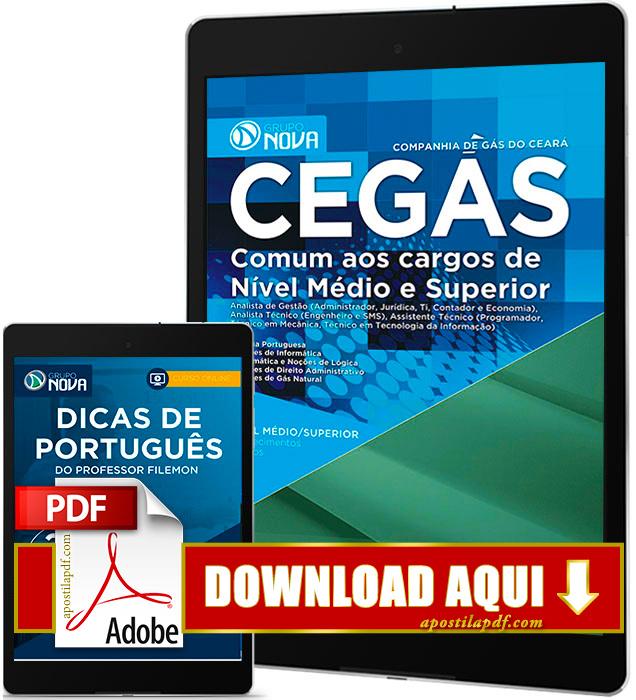 Apostila CEGÁS 2016 PDF Download Nível Médio e Superior