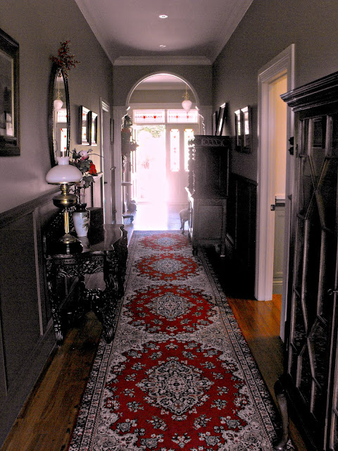Persian runner in hall