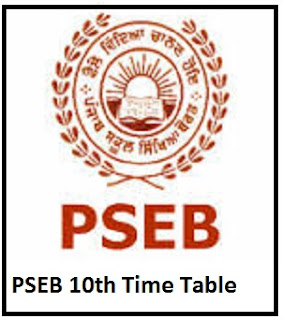 PSEB 10th Time Table