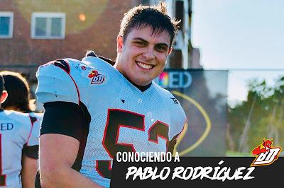 FÚTBOL AMERICANO - Entrevista a Pablo Rodríguez (LG OLED Las Rozas Black Demons)