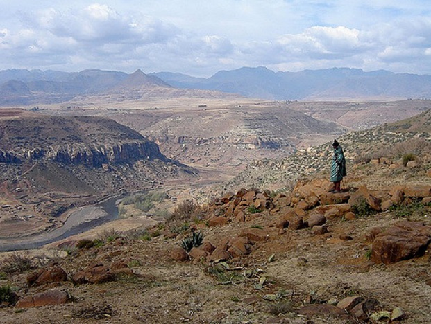 Lesotho is mountainous; more than 80% of the country is 1,800 m above sea level.
