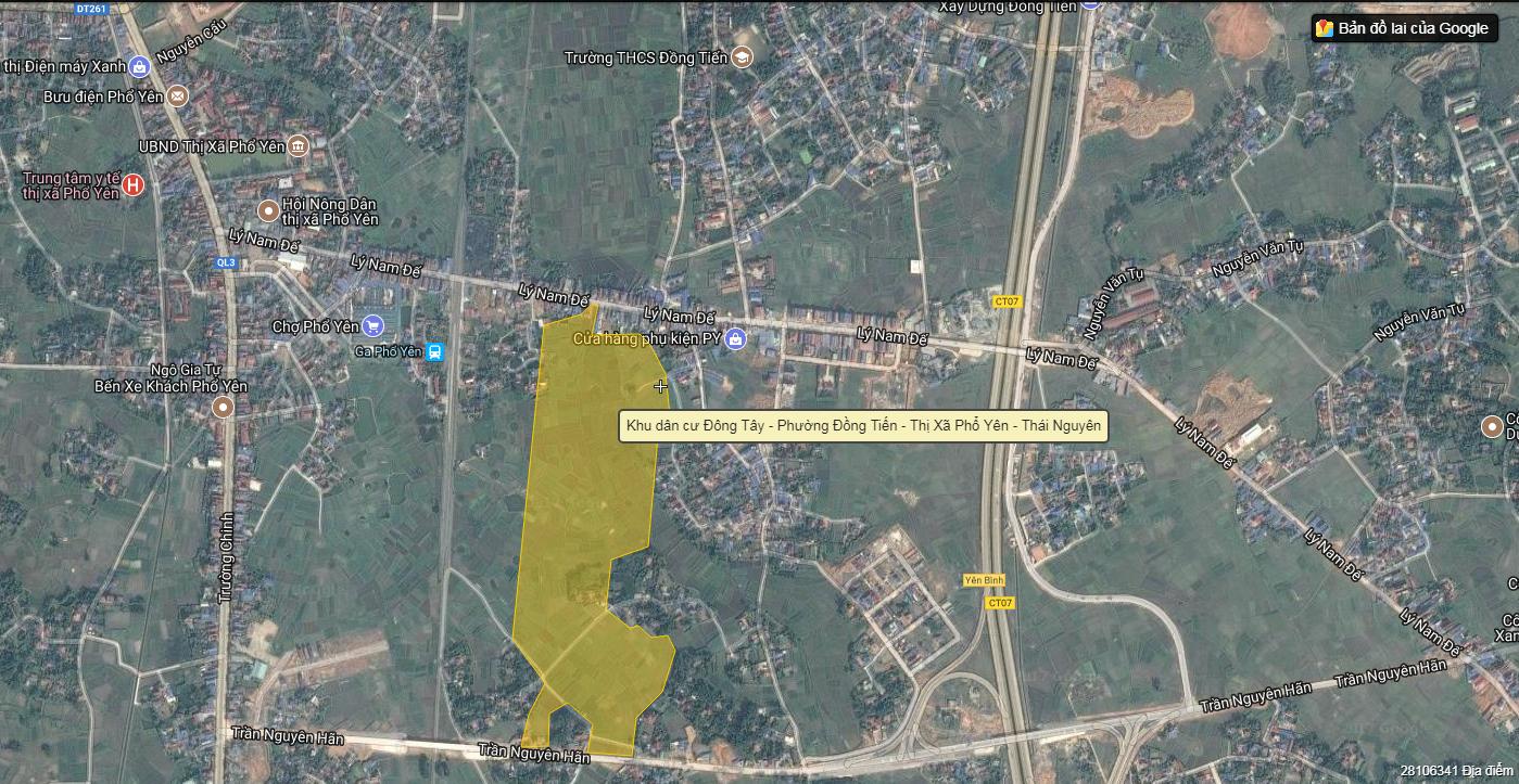 Vị trí dự án Khu dân cư Đông Tây - Phổ Yên