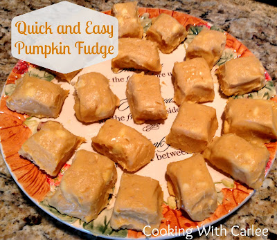 squares of mimi's pumpkin pie fudge