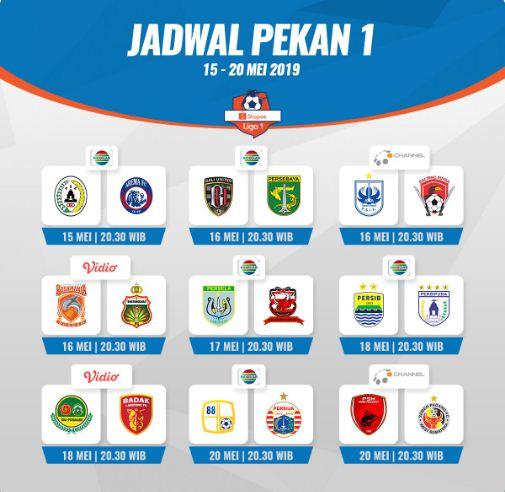 Jadwal Liga 1 2019 Pekan 1