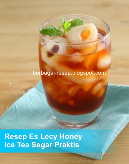 Resep Es Lecy Honey Ice Tea Segar Praktis, es segar