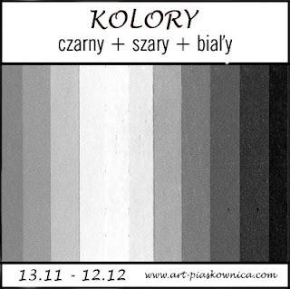 KOLORY - czarny + szary + biały