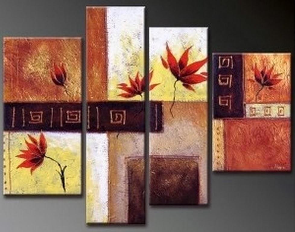 abstractos-tripticos-cuadros-al-oleo.jpg (978×768) | pinturas al ...