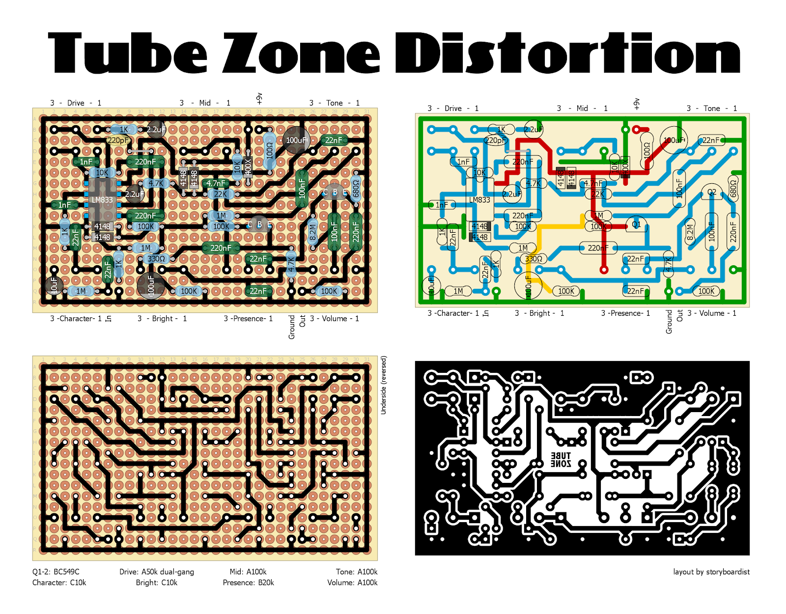 Perf and PCB Effects Layouts: MI Audio Tube Zone