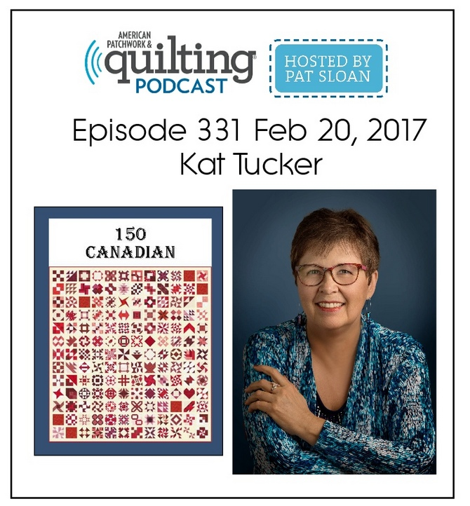 Guest on American Patchwork & Quilting Radio, Hosted by Pat Sloan.