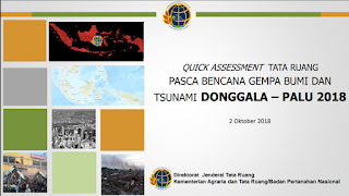 Kaji Cepat Tata Ruang Pasca Bencana Gempa Tsunami Palu Donggala 2018