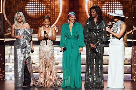 Grammy Awards: Michelle Obama Makes Surprise Appearance Alongside Some Top Singers