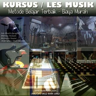kursus / les gitar, piano keyboard, bass, drum jakarta timur, terbaik dan murah