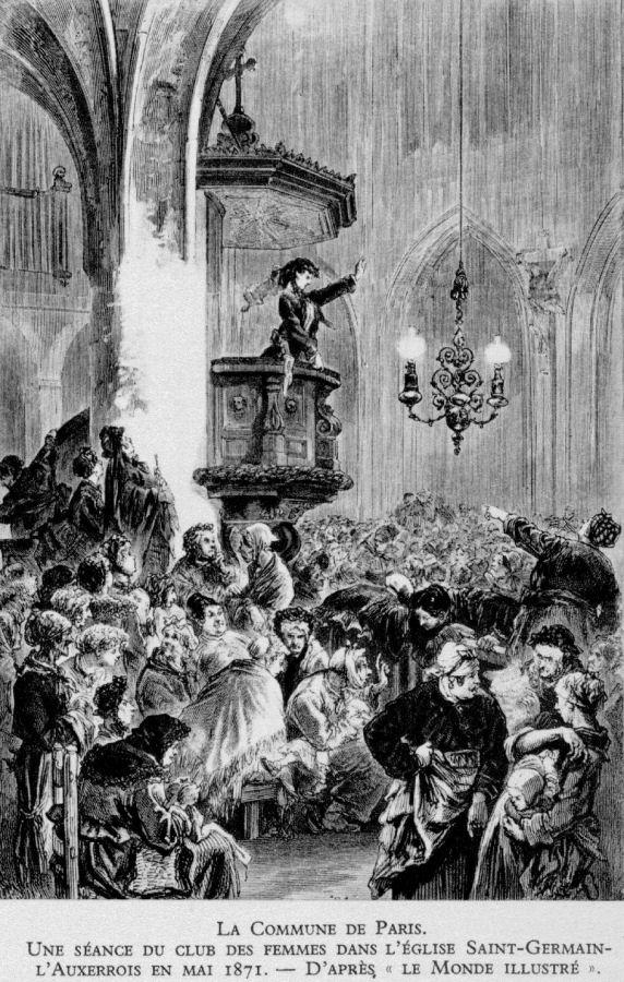 Profanação das igrejas durante a Comuna (1ª revolução comunista) de Paris