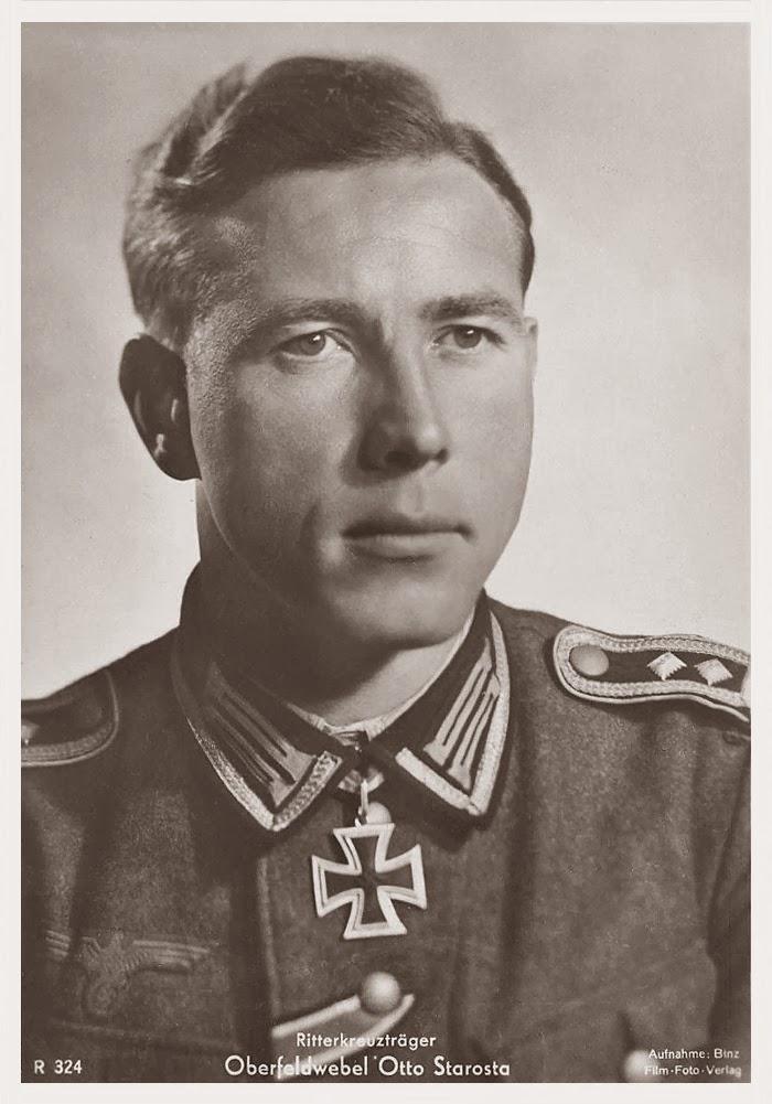 Otto Starosta Ritterkreuzträger Knight Cross Holder Postcard