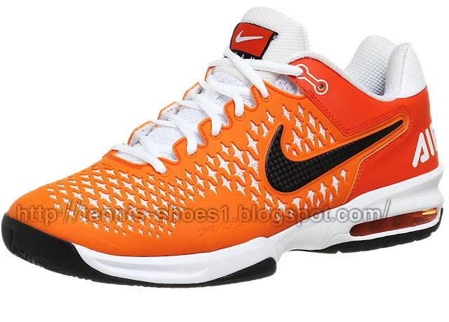 the latest fc11f 85bf0 Nike Air Max Cage TS Orange White tennis Shoe - tennis shoes