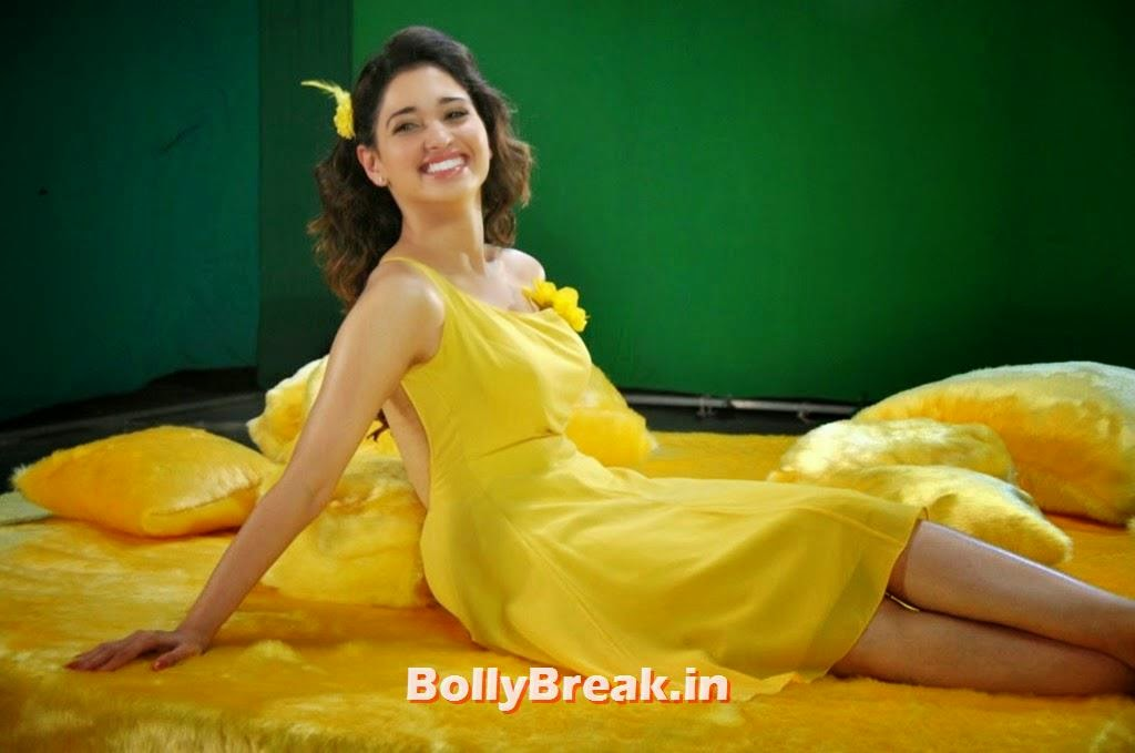 Tamanna Hd Saree Wallpaper: Tamanna In Yellow Saree