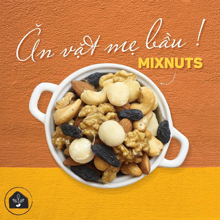 [A36] Mixnuts dinh dưỡng bữa phụ tốt cho Bà Bầu và thai nhi