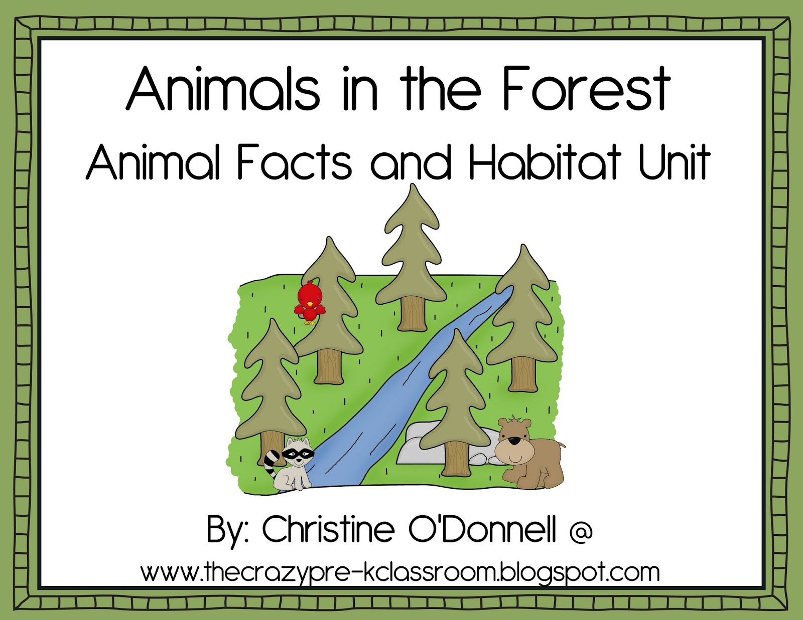The Crazy Pre K Classroom Animal And Habitat Teaching Ideas For Pre K And A Freebie