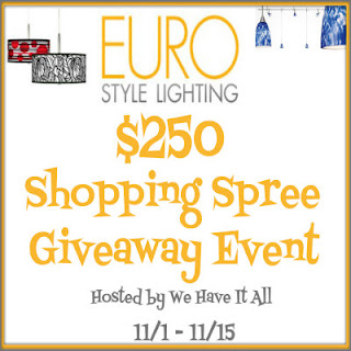 $250 EuroStyleLighting Shopping Spree #giveaway