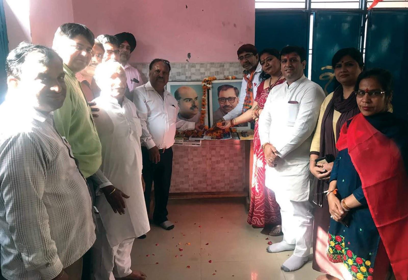 बढखल विधानसभा एनएच मण्डल ने भाजपा का स्थापना दिवस मनाया : राजन मुथरेजा