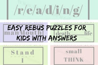 Easy Rebus Puzzles for Kids with Answers
