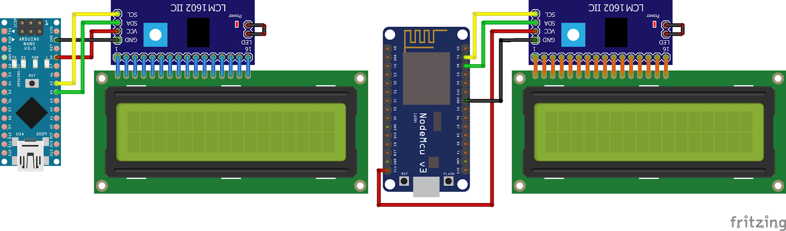 Arduino Nano Lcd 16x2 - Premium Android