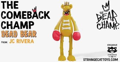 The Comeback Champ Dead Bear Vinyl Figure by JC Rivera x Nicky Davis x Martian Toys x Strangecat Toys