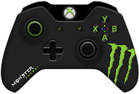 monster energy xbox one controller