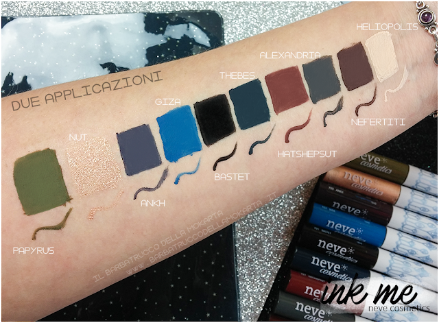 SWATCHES  1 INKME EYELINER NEVE COSMETICS REVIEW RECENSIONE