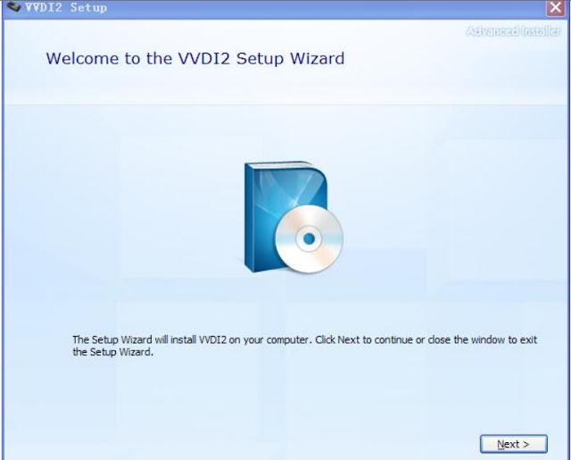 VVDI2 Setup Wizard