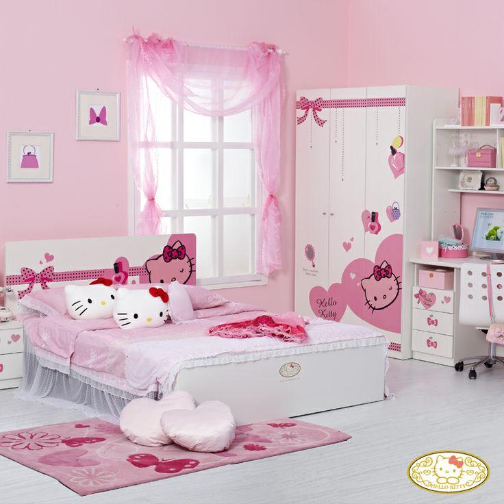 Trang tri phong ngu Hello Kitty dep 07