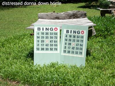 painting bingo signs, bingo stencil