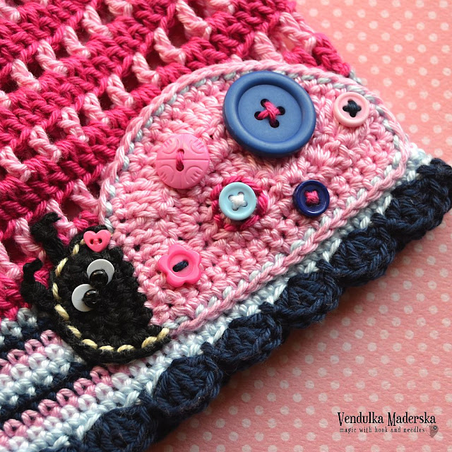 Lladybug applique - crochet pattern by Vendula Maderska