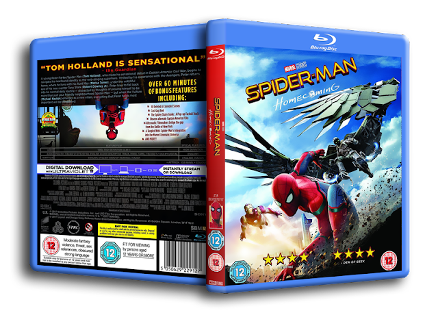 Marvel/Disney Spider-Man: Homecoming (2017) Blu-ray Cover